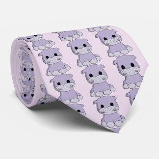 Cravate Bande dessinée mignonne d'hippopotame de bébé