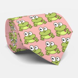 Cravate Bande dessinée mignonne drôle de grenouille