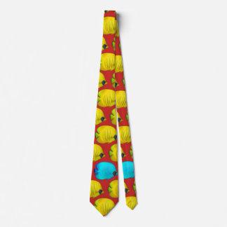 Cravate Beaux poissons jaunes de personnaliser pour la