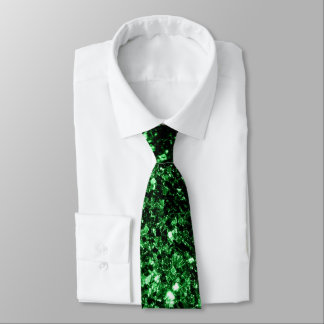 Cravate Belles étincelles de scintillement de vert de