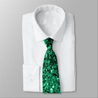Cravate Belles étincelles de scintillement de vert vert