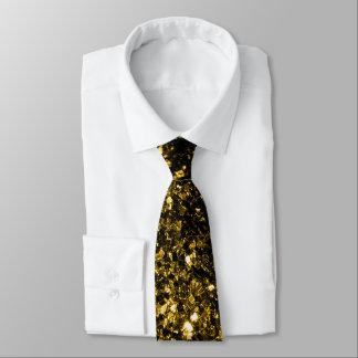 Cravate Belles étincelles de scintillement d'or jaune