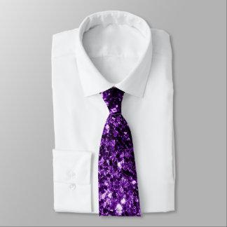 Cravate Belles étincelles pourpres foncées de