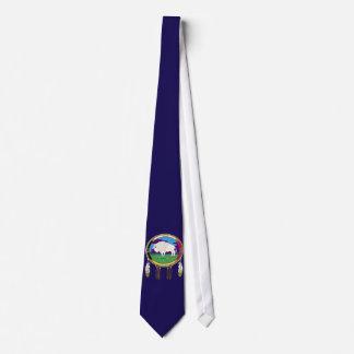 Cravate blanche de Natif américain de Buffalo
