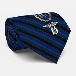Cravate Bleu professionnel de symbole d'art dentaire