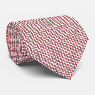 Cravate bleu rouge de plaid de diamant