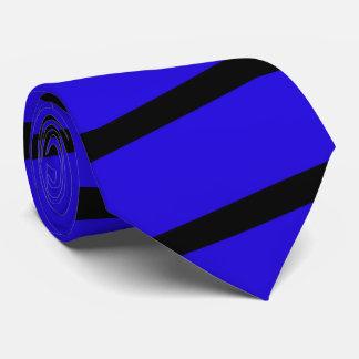 Cravate, bleu royal et rayure de noir cravate
