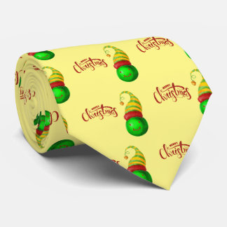 Cravate Boule heureuse de Noël de visage