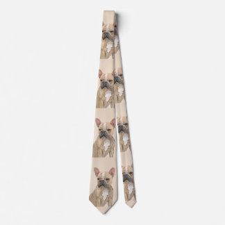 Cravate Bouledogue français (sable)