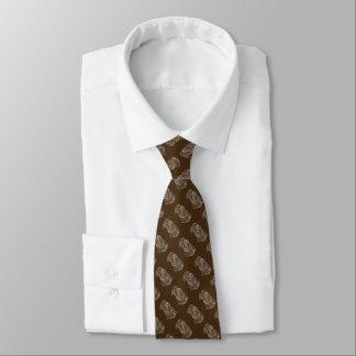 Cravate brun réaliste d'art de portrait de chien de