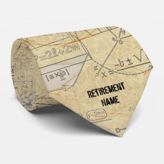 Cravate Cadeau de retraite de professeur de maths de la