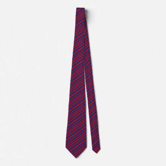 Cravate Cadeau rayé bleu rouge de mode pour lui