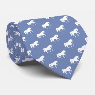 Cravate Cadeaux de cool de gris bleu des chevaux | de