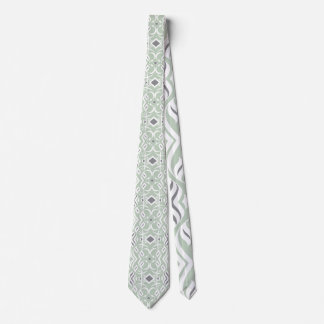 Cravate calligraphique en menthe