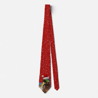 Cravate Canard drôle de Père Noël de Noël