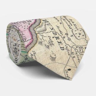 Cravate Carte régionale vintage de Londres Angleterre