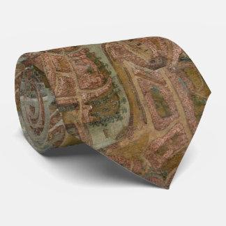 Cravate Carte vintage de Gand Belgique (1534)