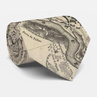 Cravate Carte vintage de Porto Portugal (1835)