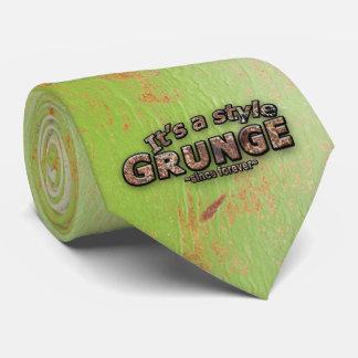 Cravate C'est mes lettres et arrière - plan rouillés