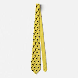 Cravate Chenille de cru d'antiquité de grue de grutier
