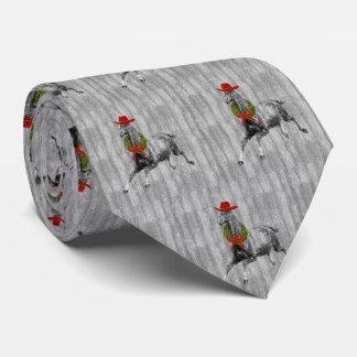 Cravate Cheval sauvage en bois de grange grise dans un