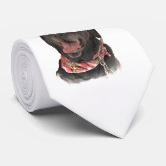 Cravate Chien joyeux de labrador retriever de noir de