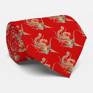Cravate Chinois Phoenix - oiseaux mythologiques AR de
