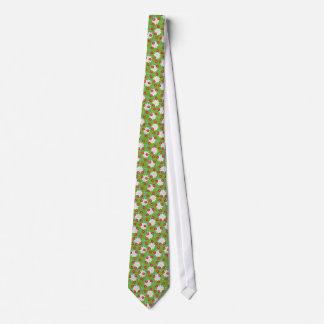 Cravate Coccinelles lunatiques sur des marguerites de