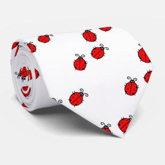 Cravate Coccinelles rouges