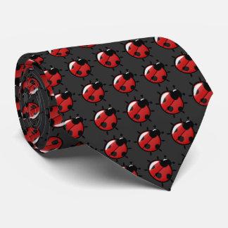 Cravate Coccinelles rouges avec l'arrière - plan