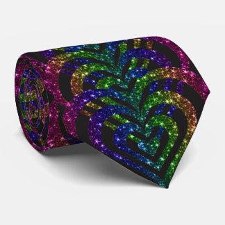Cravate Coeurs de vortex en spirale de scintillement