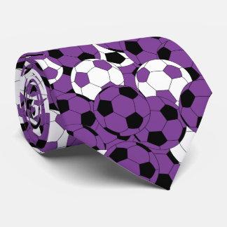 Cravate Collage pourpre, blanc et noir de ballon de