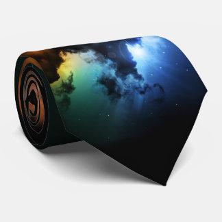 Cravate colorée de nébuleuse d'imaginaire