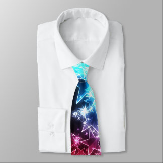 Cravate colorée d'étoiles