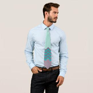 Cravate Conception de menthe de pourpre et de vert