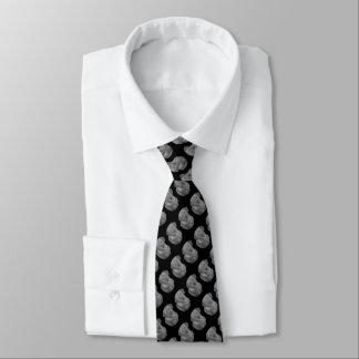 Cravate conception noire et blanche d'art de portrait de