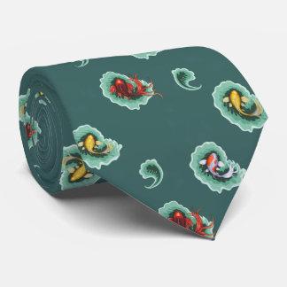 Cravate Conception turquoise de Koi Paisley