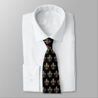 Cravate Contrôle Fleur De Lis Pattern de diamant