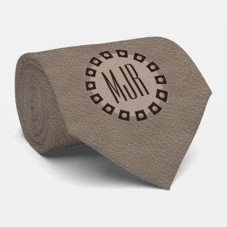 Cravate Copie de Brown et de cuir de Taupe avec le