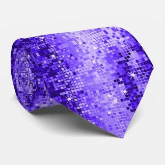 Cravate Copie de scintillement de disco de tons de bleu