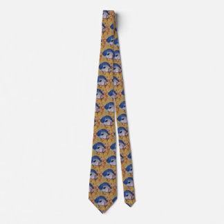 Cravate Corail bleu tropical de poissons de la vie marine