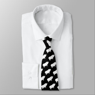 Cravate Couleur noire et blanche de coutume d'amant de