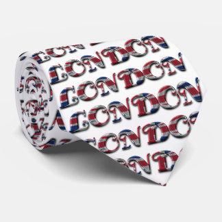 Cravate Couleurs de drapeau de typographie de Londres