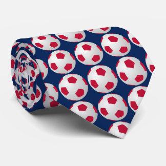 Cravate Cravate, ballon de football, rouge, blanc, et