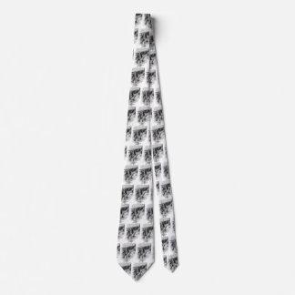 Cravate Croquis noir et blanc vintage de pirates, cordier