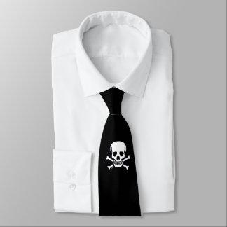 Cravate d'affaires de noir animal du crâne n