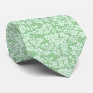 Cravate Damassés florales Menthe-Vertes élégantes