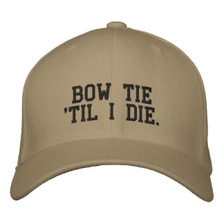 Cravate d'arc 'jusqu'à moi meurs casquette de chapeau brodé