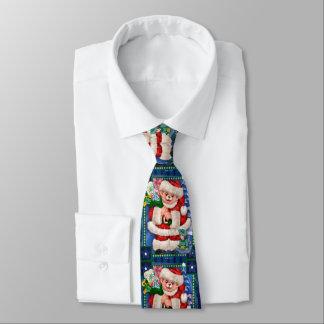 Cravate de BANDE DESSINÉE de NOËL d'OURS de PÈRE