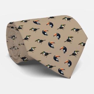 Cravate de frénésie de toucan (beige)